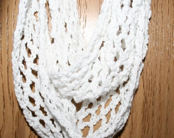 Easy Crochet Scarf Pattern Infinity Cowl Crochet Beginner Pattern in 3 sizes Arch Diamond GUIDE for using favorite crochet hook PDF Download
