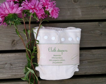 "soft bamboo velour cloth diaper / cloth nappy by ""Responsible Mother"" Lithuanian hand made / eco friendly"