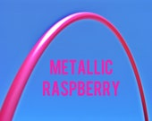"Metallic Raspberry 5/8"" POLYPRO Dance & Exercise Hula Hoop COLLAPSIBLE push button or minis"