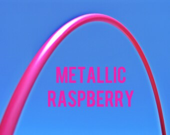 "15% off SALE Metallic Raspberry 5/8"" HDPE Dance & Exercise Hula Hoop COLLAPSIBLE push button or minis"