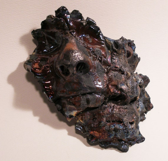 Raku Metal Ceramic Mask