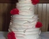 Fondant Delicate Faux 4-Tier Cake