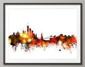 New York Skyline, NYC Cityscape Art Print (1074)