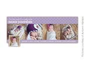 INSTANT DOWNLOAD - Birth Announcement FB Timeline Cover - E389