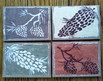 Unique Hand Made Pine Cone Cards