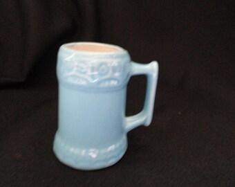 Aqua mini mug, made in Brazil, numbered