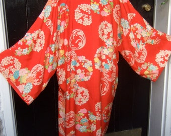 Exotic Japanese Luxurious Floral Print Robe