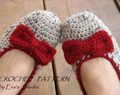 CROCHET PATTERN, Adult Slippers, Easy, Great for Beginners, Shoes Crochet Pattern Slippers,  Pattern No. 12
