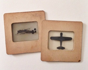 SALE Pair of Rare Original Antique WW2 US Army Military Slides