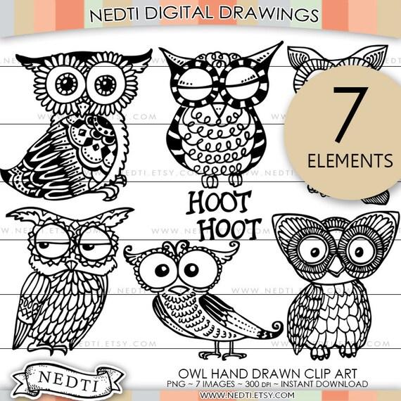 Owl Doodle Drawing Cute Owl Doodle Clip Art