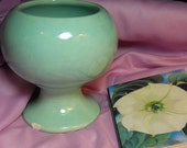 Aqua Haeger Vase, Haeger Aqua Vase, Planter Aqua, Vintage China Planter, Collectible Haeger, 1950s Vase, Kathleen Leasure, FromGlenToGlen