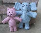 Piggie and Gerald, Elephant and Pig, Crochet Pattern PDF