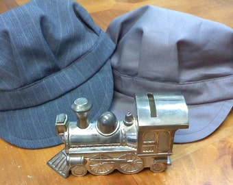 train conductor hat for boys Solid Grey hat