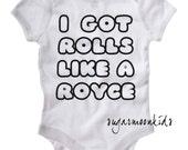 Chubby Baby Rolls like a Royce Baby