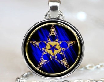 Astrology Pentagram with Upside Down Star Necklace  Pendant (PD0050)