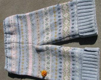 RePurposed Wool Longies / Pants - Stripy Longies - Size 6 -18 Months - Small