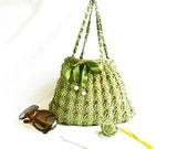 SPRING SALE // Crochet Handmade Bag, Crochet tote bag, Green Handbag, Stylish Bag, Unique Bag, Tote for ladies, Crochet tote