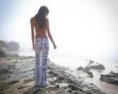Tie Dye Yoga Pants Size medium ready to ship Shibori Boho womens leggings  maternity
