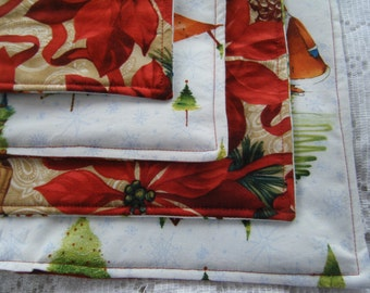 Reversible Christmas Placemats Set of 4