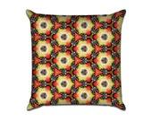 "Kaleidoscope Eyes (1) - Original Pattern Sofa Throw Pillow Envelope Cover for 18"" inserts"