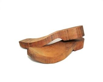 Antique Wooden Shoe Forms - Cobblers Foot Mold - Primitive Home Decor - Vintage Pair of Wood Shoe Forms