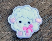 Sheep felt feltie Embroidery design - instant download
