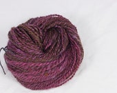 Cherry cola- Hand  spun yarn. Leicester longwool and corriedale 2 ply hand dyed, Pure  wool.