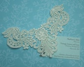 Ivory Venise Lace Yokes Collar Appliques, 1 each for jewelry, bridal, wedding, altered couture, necklaces, bridal by MarlenesAttic - APP103