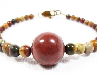 Red Creek Jasper with Centerpiece Bracelet
