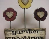Flower Arrangement, Wood Signs, Floral Accents, Primitive Country Decorations