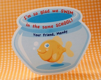 Personalized Fishbowl Valentine's Day Card - Print at Home