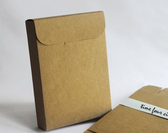 Set of 30, Kraft Post Card Gift Box, Note Book Gift Box, Favor, Gift, Party