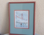 Print Golden Gate  BRIDGE of San Francisco by Yato framed