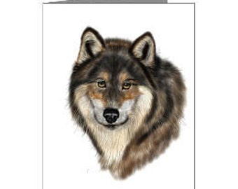 Wolf Cards, Set of 4 - 4x6 blank cards