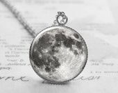 Full Moon Necklace, Space Necklace, Solar System Jewelry, Astronomy Jewelry, Moon Pendant, Best Friend Gift, Science Gifts, N005