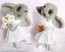097 Mouse Sofia - Amigurumi Crochet + Knitting (dress) Pattern PDF file by Pertseva Etsy