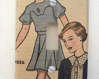 1920s Fashion Light Swich Dimers plate
