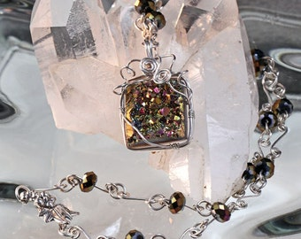 Electroplated Druzy Necklace