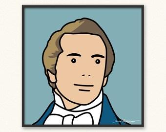 Joseph Smith • Art Print • Illustrated Mormon LDS • Julian Opie