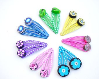 3 pairs of Colorful Little Girl Hair Clips