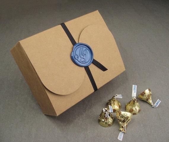 Wedding Gift Boxes Large : Large Size Wedding Favor Box, Kraft Gift Box and 2.8cm Wedding ...