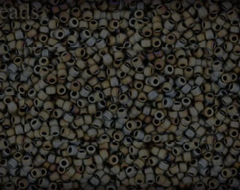 15/0 TOHO seed beads 10g Toho beads 15/0 seed beads Iris Gray 15-613 Opaque Frosted Matte beads