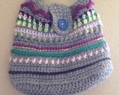 Crochet handbag, purse pattern instant digital download