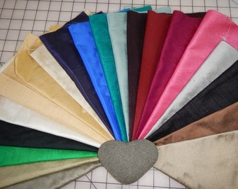 Dupioni silk and taffeta - 20 10x10 inch squares - 100% silk for crazy quilt