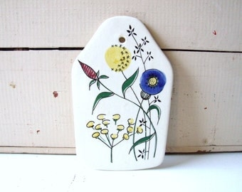 Limburg Echt Dom-Keramik Vintage Platter Flowers