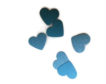 Dual Side Shimmer / Matte Blue OR Your Color Choice Mini Hearts Table Scatter / Confetti / Embellishments