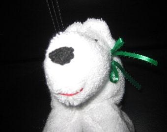 Polar bear terry cloth stuffed animal