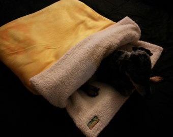 Burrow Bag, Dog Sleeping Bag, Snuggle Sack, Dog Blanket, Dog Bed