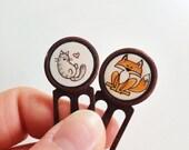 Kitty & Fox Bookmarks