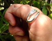 Sterling Silver Thumb Ring loop design